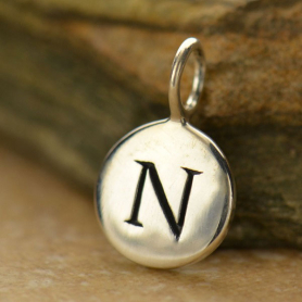 Intial Charms Letter N - Silver Plated Bronze DISCONTINUED