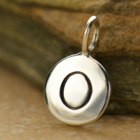 Intial Charms Letter O - Silver Plated Bronze DISCONTINUED