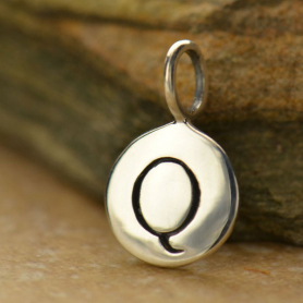 Intial Charms Letter Q - Silver Plated Bronze DISCONTINUED