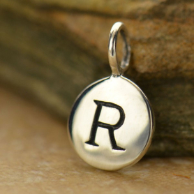 Intial Charms Letter R - Silver Plated Bronze DISCONTINUED