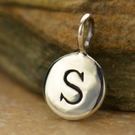 Intial Charms Letter S - Silver Plated Bronze DISCONTINUED