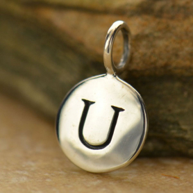 Intial Charms Letter U - Silver Plated Bronze DISCONTINUED