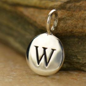 Intial Charms Letter W - Silver Plated Bronze DISCONTINUED