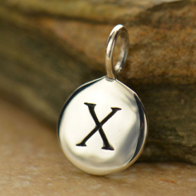 Intial Charms Letter X - Silver Plated Bronze DISCONTINUED