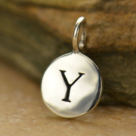 Intial Charms Letter Y - Silver Plated Bronze DISCONTINUED