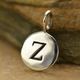 Intial Charms Letter Z - Silver Plated Bronze DISCONTINUED