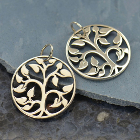 Medium Tree of Life Charm - Silver Plated Bronze