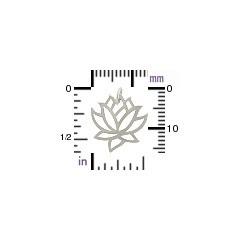Medium Lotus Charm - Silver Plated Bronze 18x15mm