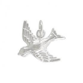 Medium Songbird Charm - Silver Plate Bronze DISCONTINUED