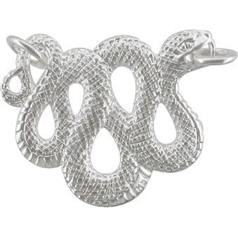 Snake Festoon Pendant - Silver Plate Bronze DISCONTINUED
