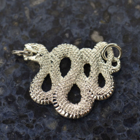 Snake Festoon Pendant - Silver Plate Bronze DISCONTINUED