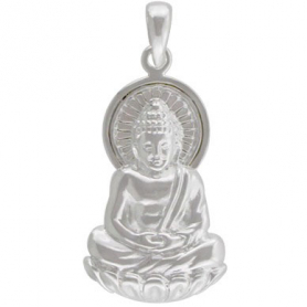 Buddha Pendant - Silver Plated Bronze DISCONTINUED