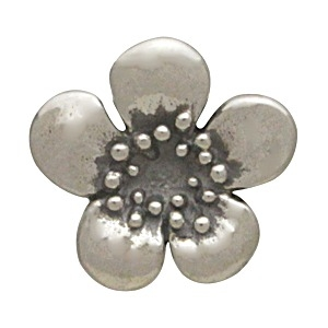 Sterling Silver Plum Blossom Charm Embellishment
