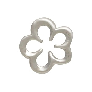 Silver Openwork Flower Charm Embellishment DISCONTINUED