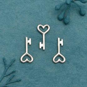 Sterling Silver Key Charm Embellishment