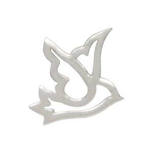 Sterling Silver Peace Dove Charm Embellishment