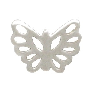 Sterling Silver Tiny Butterfly Charm Embellishment