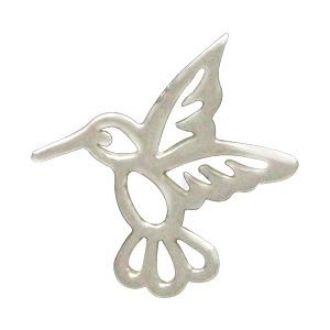 Sterling Silver Tiny Hummingbird Charm Embellishment 10x10mm