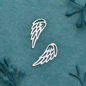 Sterling Silver Tiny Angel Wing Charm Embellishment