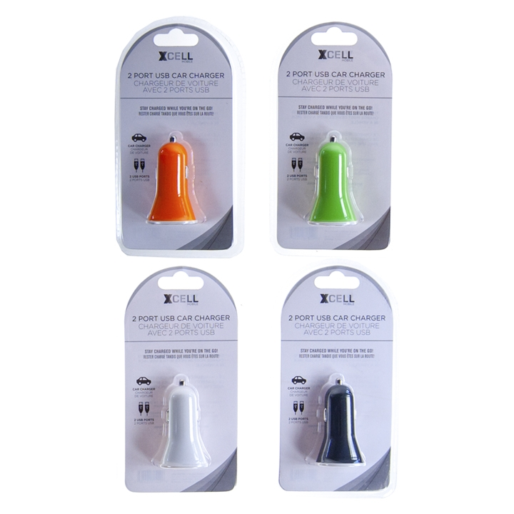 XCELL MOBILE - 2 PORT USB CAR CHARGER