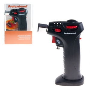 MINI COOKING TORCH CORDLESS ADJUSTABLE FLAME REFILLABLE BLAC