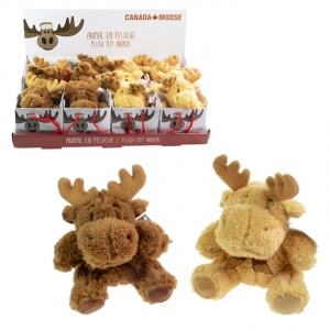 CANADA MOOSE - PLUSH MOOSE, LIGHT BROWN & DARK BROWN, SMAL