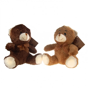 OLYMPIA CUBS - PLUSH TEDDY BEAR, LIGHT / DARK BROWN, LARGE