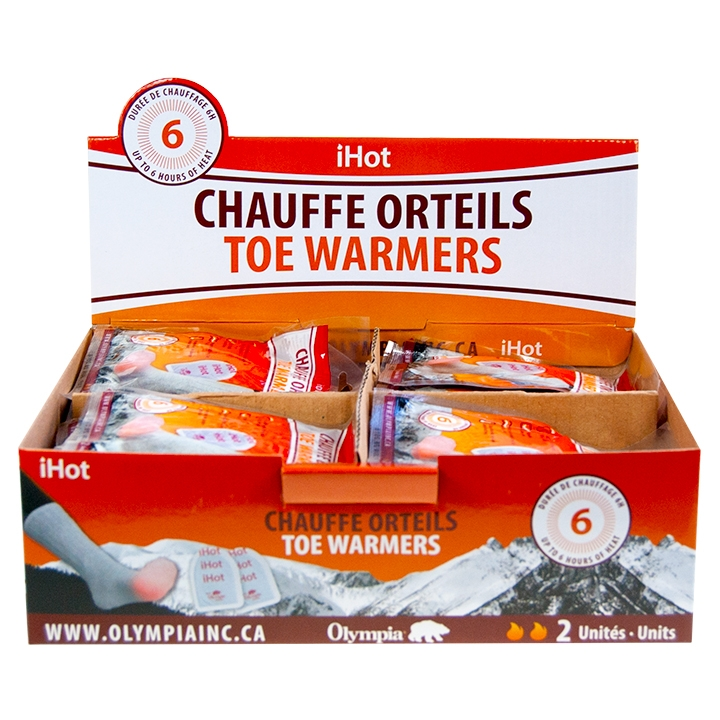IHOT - TOE WARMERS, 40 UNIT DISPLAY