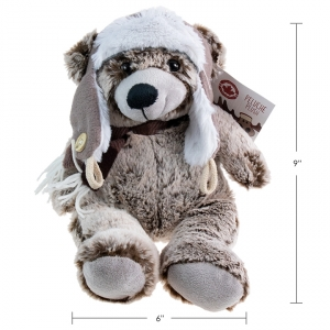 CANADA MOOSE - PLUSH TEDDY BEAR WITH HAT, 9