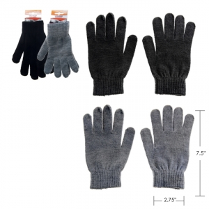 iHot - POLYESTER MAGIC GLOVES, 8 BLACK /4 GREY ASSORTED