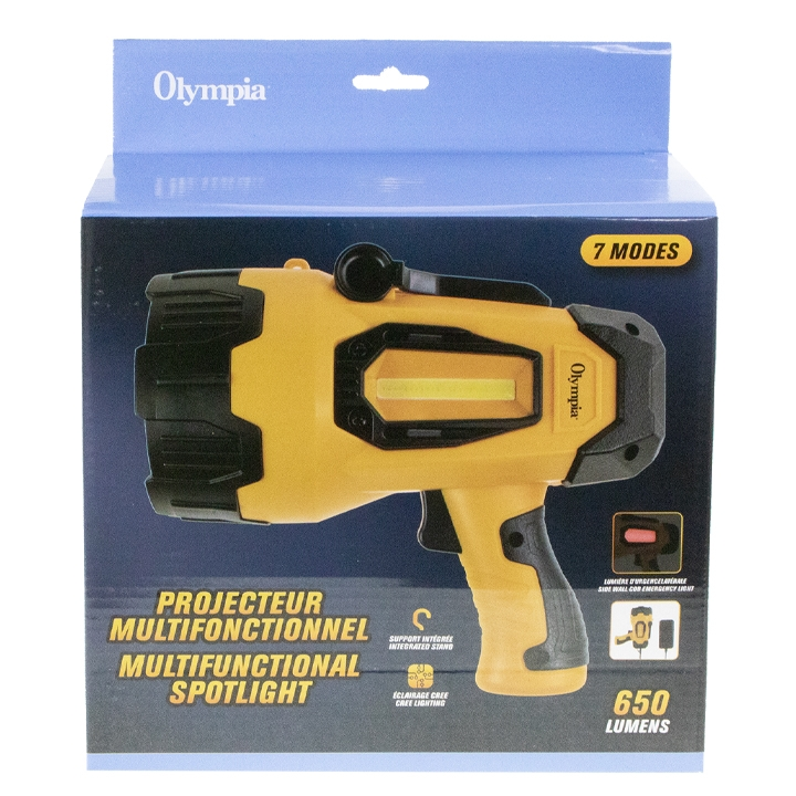 OLYMPIA - RECHARGEABLE SPOT LIGHT