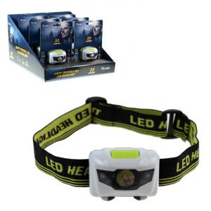OLYMPIA - LED HEADLAMP, 1W LED + 2 RED LED, 6PCS DISPLAY