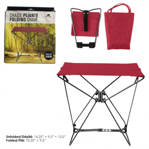 OLYMPIA - POCKET CHAIR WITH CASE, 250 LBS
