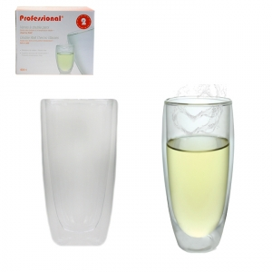 40049CUP - PROFESSIONAL - 400 ML DOUBLE WALL THERMAL GLASS,