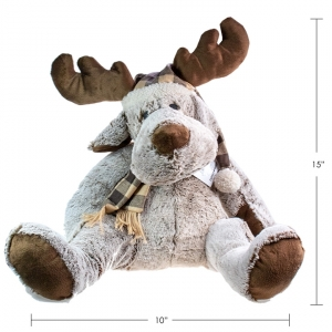 CANADA MOOSE - PLUSH MOOSE WITH HAT, 15