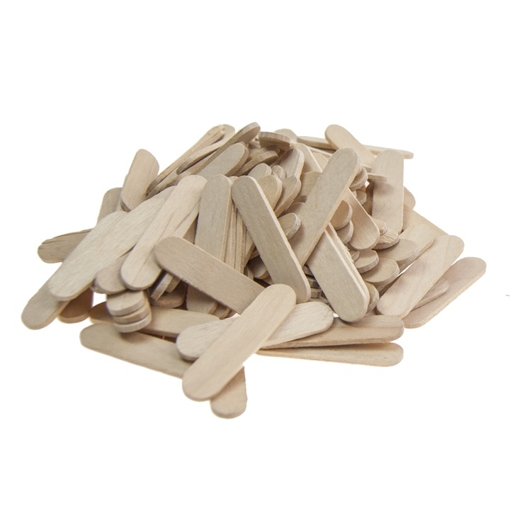 "DIY CRAFTS - 1 1/2"" MINI WOODEN STICKS, 120PCS, NATURAL"