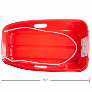 IPLAY - PLASTIC SNOW SLED, RED, 65CM