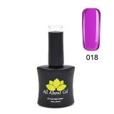 #018 Solid Purple (Purple Haze) 10ML ALL ABOUT GEL