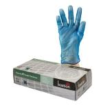 Baston Vinyl Glove Blue Powder Free 100 Pack