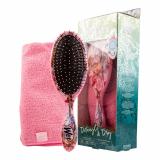 Detangler Brush and Towel Set Pink WETBRUSH