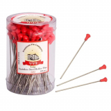 Roller Pins Metal Long 100pc Red 999