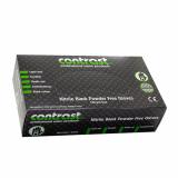 Gloves Nitrile Black Powder Free - Med 100 Pcs CONTRAST