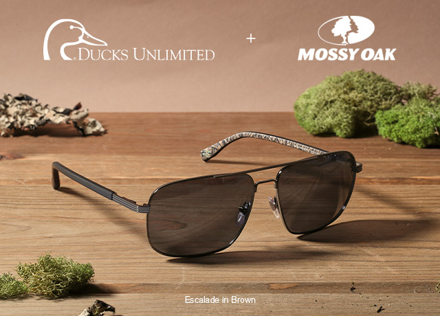 ducks unlimited glasses with camo pattern
