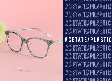 acetate eye glasses and sunglasses