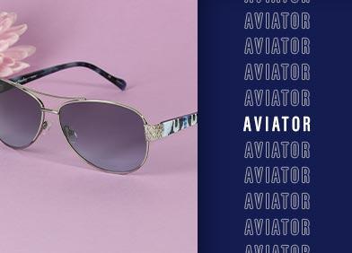 aviator shaped eye glasses and sunglasses
