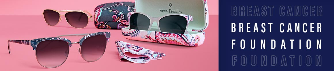 eye glasses and sunglasses benefiting breast cancer research