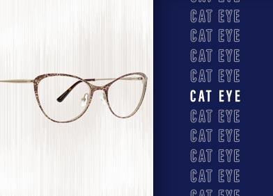 cat eye shaped eye glasses and sunglasses
