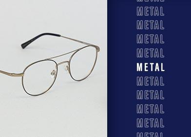 metal eye glasses and sunglasses