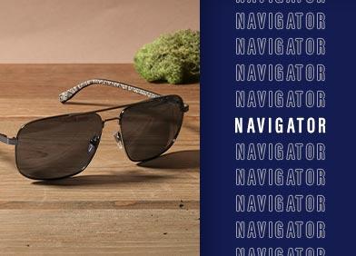 navigator shaped eye glasses and sunglasses