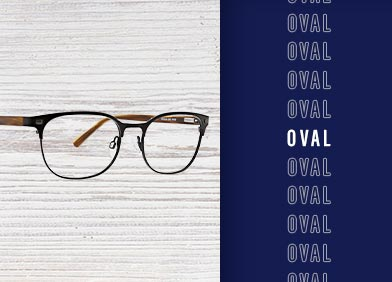 oval shaped eye glasses and sunglasses